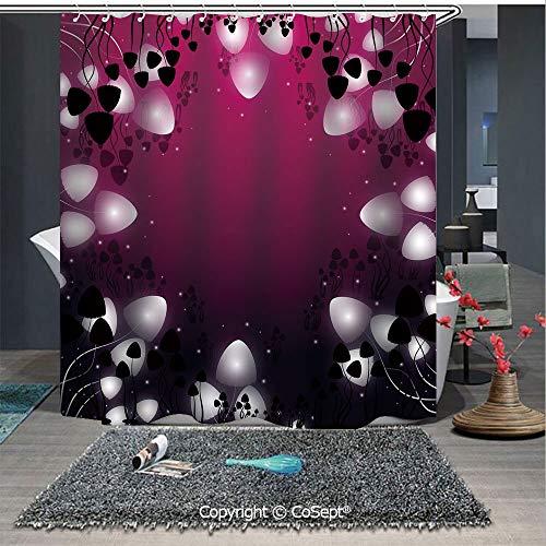 - SCOXIXI Shower Curtain,Hallucinogenic Mushrooms of Psilocybe Group Fantastic Nature Marvelous Decorative,for Bathroom(70.86