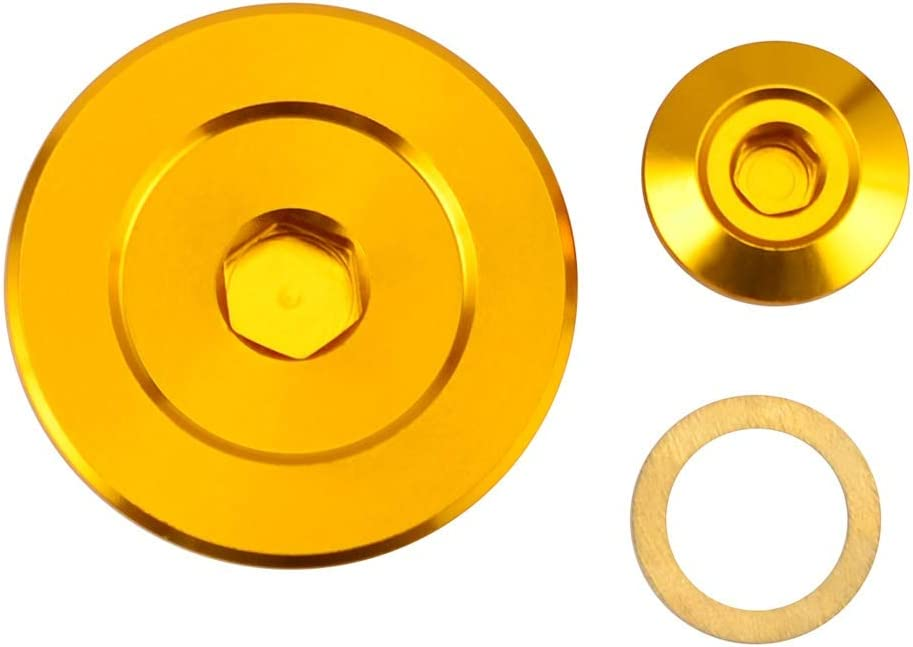 Color : Gold YUQINN Motorradteile Motorrad-Motor-Steuerdeckel Kappen-Stecker for Suzuki DRZ400R S//SM 2000-2017 DRZ400R DRZ400S DRZ400SM DRZ DRZ 400 R S SM For Kawasaki