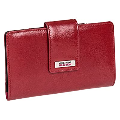 Kenneth Cole Reaction Womens Tab Utility Clutch Wallet w/ Mirror