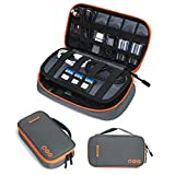 BAGSMART Electronic Organizer Travel Cable Organizer Bag Portable Electronic Accessories Case for Charger, Cable, USB, Grey