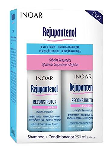Kit Duo Shampoo e Condicionador Rejupantenol com Dexpantenol, Inoar, 250ml