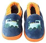 D.S.MOR Toddler Navy Train Velvet Kids Footwear Adorable Kids Shoes (8 M)
