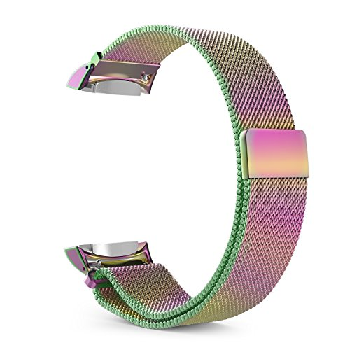 Gear S2 Watch Band, MoKo Milanese Loop Stainless Steel Bracelet Smart Watch Strap + Connector for Samsung Gear S2 SM-R720 & SM-R730 Smart Watch (NOT FIT Gear S2 SM-R735), COLORFUL