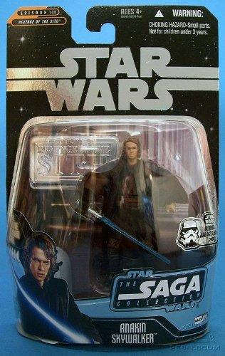 Anakin Skywalker Stand - Anakin Skywalker Star Wars Revenge of the Sith Episode III Ultimate Galactic Hunt Silver Stand Figure