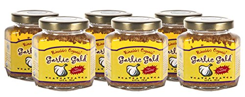 USDA Certified Organic Garlic Gold Nuggets In Extra Virgin Olive Oil, 6.4 Ounce Jars (Pack of 6) by Garlic Gold