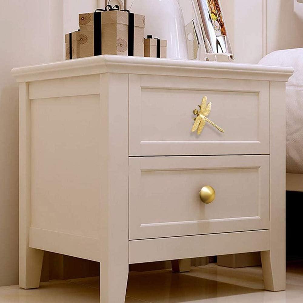 cuisine armoire salle de bain Poign/ées vintage en cuivre avec libellule dor/ées pour tiroir