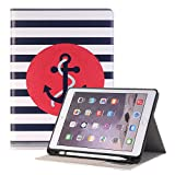 Hulorry Pro 12.9 iPad Case for Kids, Slim Case with Pencil Holder & Card Slots Heavy Duty Cover Cute Cartoon Folio Case Screen Protective Case for iPad Pro 12.9 inch