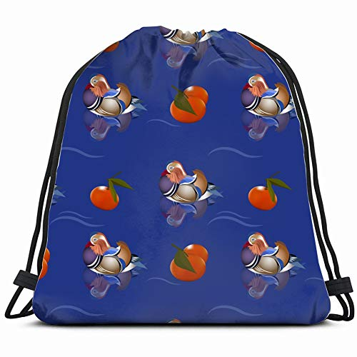 birds fruits animals wildlife miscellaneous Drawstring Backpack Gym Sack Lightweight Bag Water Resistant Gym Backpack for Women&Men for Sports,Travelling,Hiking,Camping,Shopping Yoga