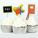 Teaching Materials Party Supplies Cartoon Math Cupcake Toppers Party Decorations