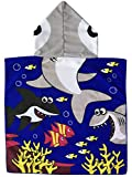 Polly House Children Hooded Beach Towel, Shower Bath Robes, Swim coverup, Water Activities Towel for Boy/Girls, Soft and Strong Absorbent (05)