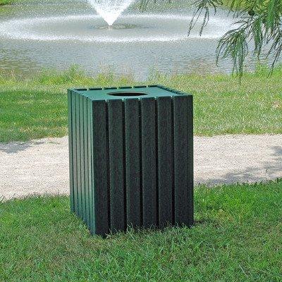 55-Gal Receptacle Finish: Cedar, Mounting Type: (Cedar Waste Receptacle)