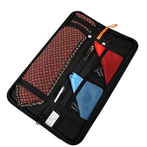 HDE Travel Tie Case Necktie Luggage Organizer Portable Nylon Storage Bag