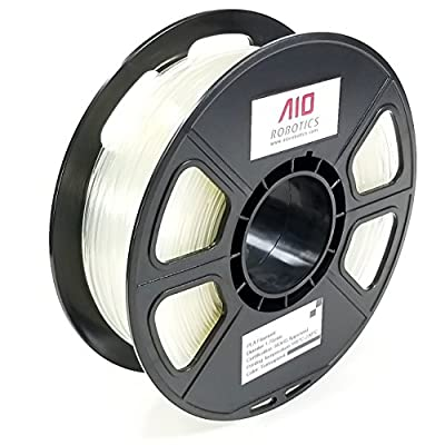 AIO Robotics AIONATURAL 3D PLA-0.5KG1.75-NATURAL PLA 3D Printer Filament, Dimensional Accuracy +/- 0.02 mm, 0.5 kg Spool, 1.75 mm, Natural