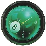 Sterling Gaming Glowing 8-Ball Neon Clock