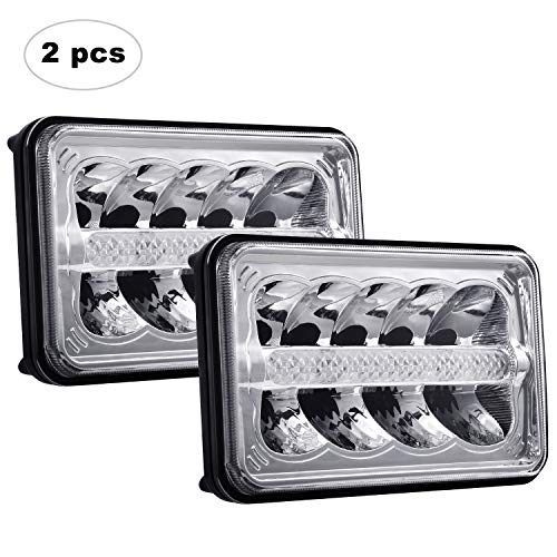 AAIWA 4X6 LED Headlight Sealed Beam Headlight Replacement with High Low Beam DRL LED Headlamp H4651 H4652 H4656 H4666 H6545 for Peterbil Kenworth Freightinger Probe Oldsmobile Cutlass