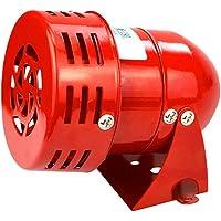 Fafeicy MS-190 Elektrische sirene, 220 V, 120 dB, industrieel geluid, bescherming tegen diefstal, rood, motoraangedreven…