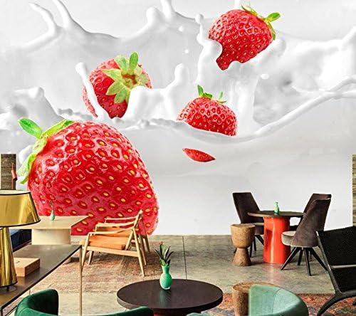 BZDHWWH Fresa Leche Alimentos Fondos De Pantalla Restaurante ...