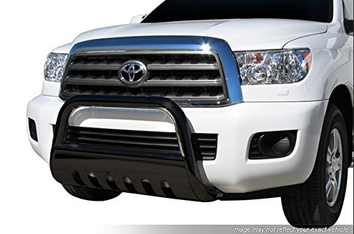 - R&L Racing Black HAMMERED Stainless Steel Bull Bar Brush Bumper Grille Guard Heavy Duty For Dodge Ram