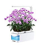 Countertop Hydroponic Indoor Herb Garden Kit Light, CHEE MONG Smart Herb Gardening Hydroponics LED Watering Growing System for Tomato, Thyme, Lettuce, Lily - AS Desk Reading Lamp (Seeds Not Included)