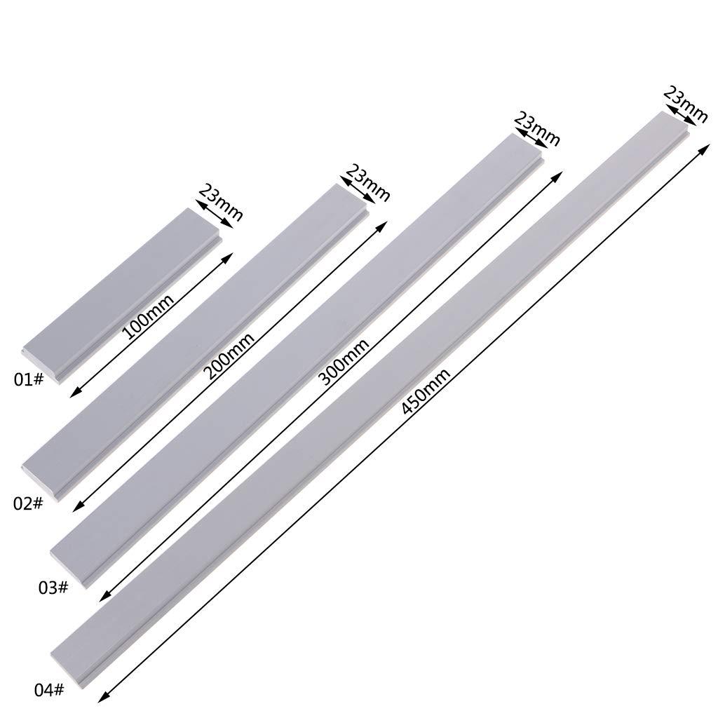 ZOOMY Rail de glissi/ère en Forme de glissi/ère pour Rail /à Bois Arr/êt pour Rail /à Onglet rainur/é en T 100mm