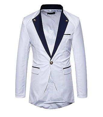 Un Botón De Los Hombres Traje Esencial Tuxedo Chaqueta ...