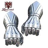 Legends in Steel Bolted Steel Gauntlets Hand Armor