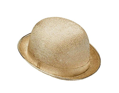 (Forum Novelties Men's Glitter Mesh Novelty Derby Hat, Gold, One Size )