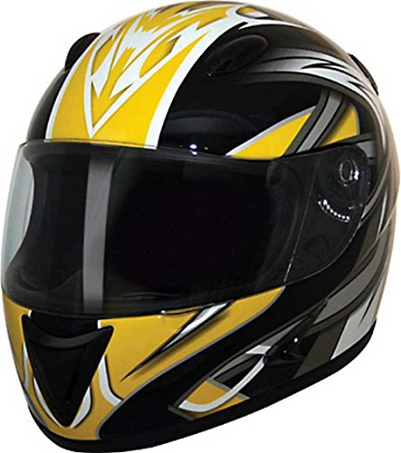 HCI Yellow Blade Full Face Motorcycle Helmet Fully-Vented ABS Shell 75-754 (2XL)