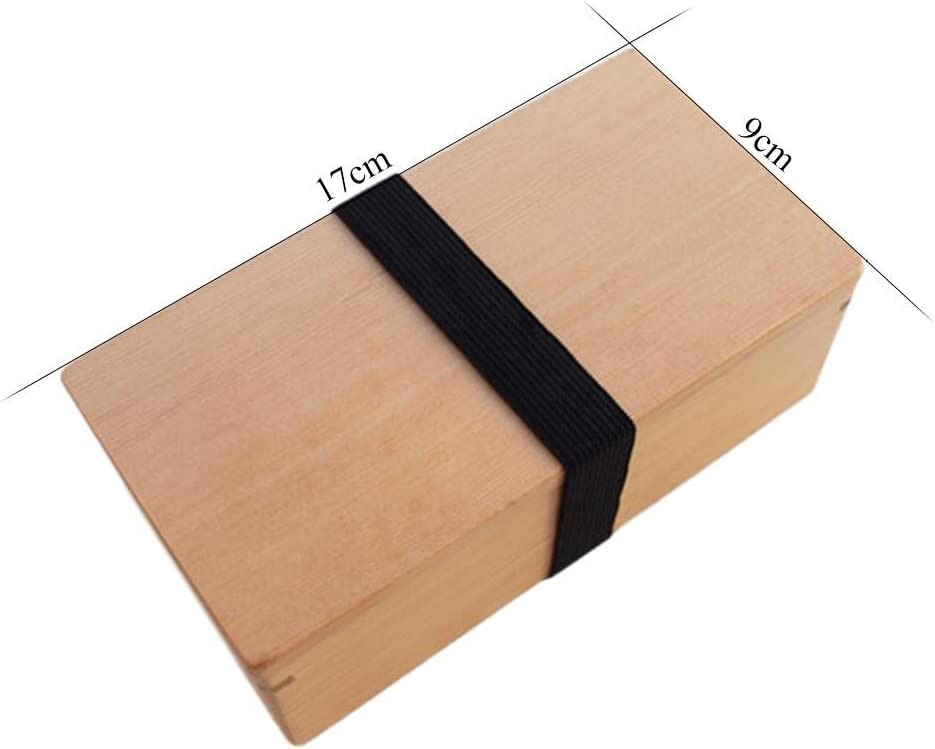 Apta para microondas y lavavajillas. Fiambrera de bamb/ú Rectangular de 3 Partes Ardentity Caja bento japon/és pr/émium herm/ética