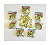 1000 PLASTIC GOLD COINS PIRATE TREASURE CHEST PLAY MONEY