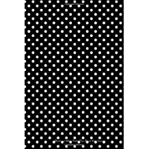 "Black and White Polka Dots Blank Book Journal: 100 pages, 6 x 9"", lined"
