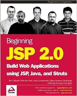 Book Beginning JSP 2.0 by Ben Galbraith, Peter den Haan, Lance Lavandowska, Sathya Nar (2003)
