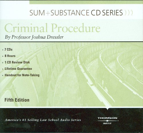 Sum and Substance Audio on Criminal Procedure, 5th (CD) (Sum + Substance)