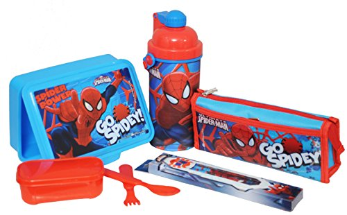 Marvel Spider Man back to School stationery combo set, 699, Multicolor