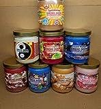Smoke Odor Exterminator 13 oz Jar Candles Sandalwood Assorted, (8) Includes Sandalwood, Nag Champa, China Rain, Cabin Night, Yin Yang, Sugared Cranberry, Cinnamon Apple & Salted Caramel.
