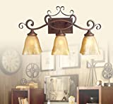 DMMSS Mirror front lamp Countryside retro retro Iron corner bedside lamp , 2