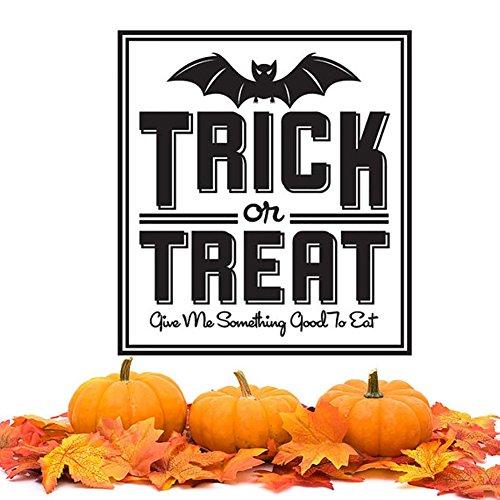 Smartcoco DIY Creative Halloween Bat Words Wall Sticker Vivid Wall Decals Kid Room Living Room Bedroom Halloween Decors (Dora Boots Halloween Costume 3t)