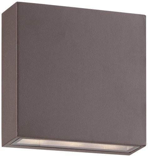 Possini Euro Stanford Bronze Modern Outdoor LED Wall Light
