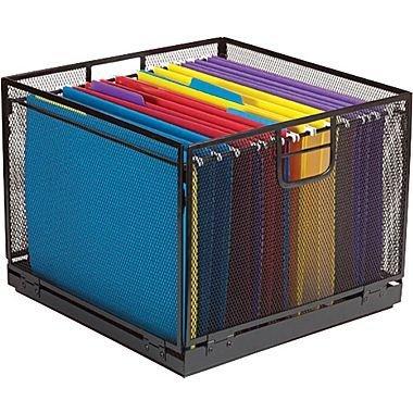 File Cube (Staples Mesh File Cube, Black, 10 3/4