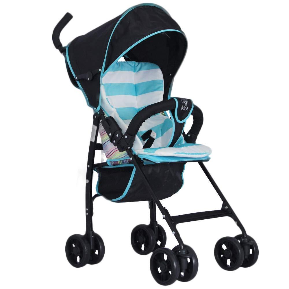 赤ちゃん ウォーカー 夏 子 バシネット 軽量 折りたたみ 子 トロリー、 に適用されます 036ヶ月 新生児 そして 就学前  Blue B07SQYK2WR