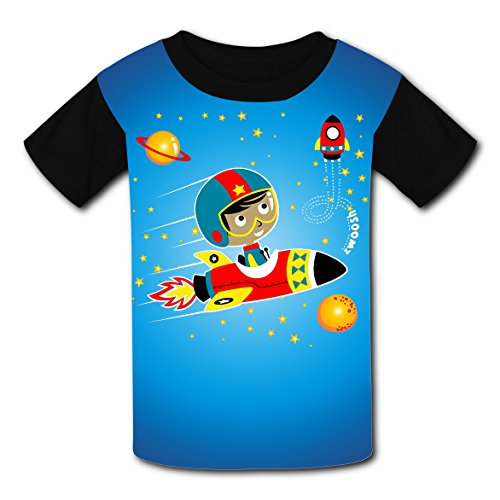 O-Neck New Sports Shirts 3D Original With Spaceman For Unisex Children L ()