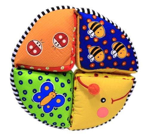 Kreisraupe, Softspielzeug für Babys ab 6 Monate, Stoffspielzeug