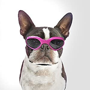 Namsan Dog Sunglasses - Dog Goggles UV Protection Sunglasses for Dog - Pink