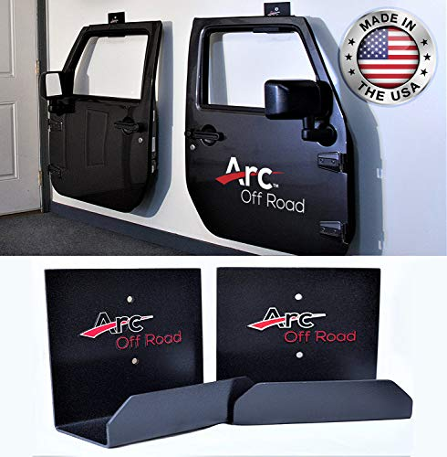 The Original, Arc Off Road, Window Channel, Jeep Door Hanger Bracket, 2 Door (2 hangers) For CJ, YJ, TJ, JK, JKU And The All New - Tj Half Seal Door