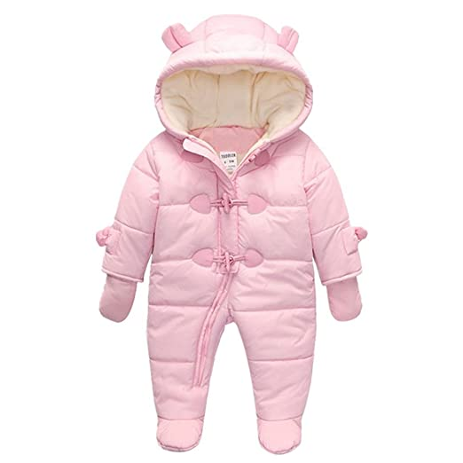 TeenMiro Baby Winter Clothes Newborn Fleece Bunting Infant Snowsuit Girl Boy Snow Wear Outwear Coats 0-24 Months