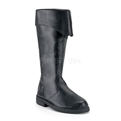 105 (Large 12-13 Black) Pirate Boots Tall  sc 1 st  Amazon.com & Amazon.com: Pirate Boots Tall Pirate Costume Boots Medieval Costume ...