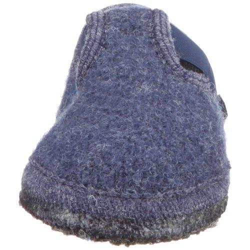 Haflinger Joschi 621002 - Zapatillas de casa de tela para niños Azul