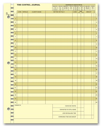 EGP Time Control System - Journal Sheet by EGPChecks (Image #2)