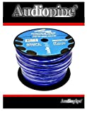 100 FT 0 GA BLUE POWER GROUND AUDIOPIPE COPPER MIX WIRE CABLE AMP INSTALL