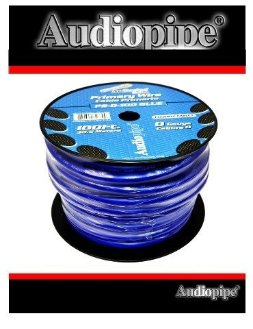 100 FT 0 GA BLUE POWER GROUND AUDIOPIPE COPPER MIX WIRE CABLE AMP INSTALL by Audiopipe (Image #5)